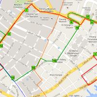 George Town Free Shuttle Bus Map (Penang Trip, part 2)